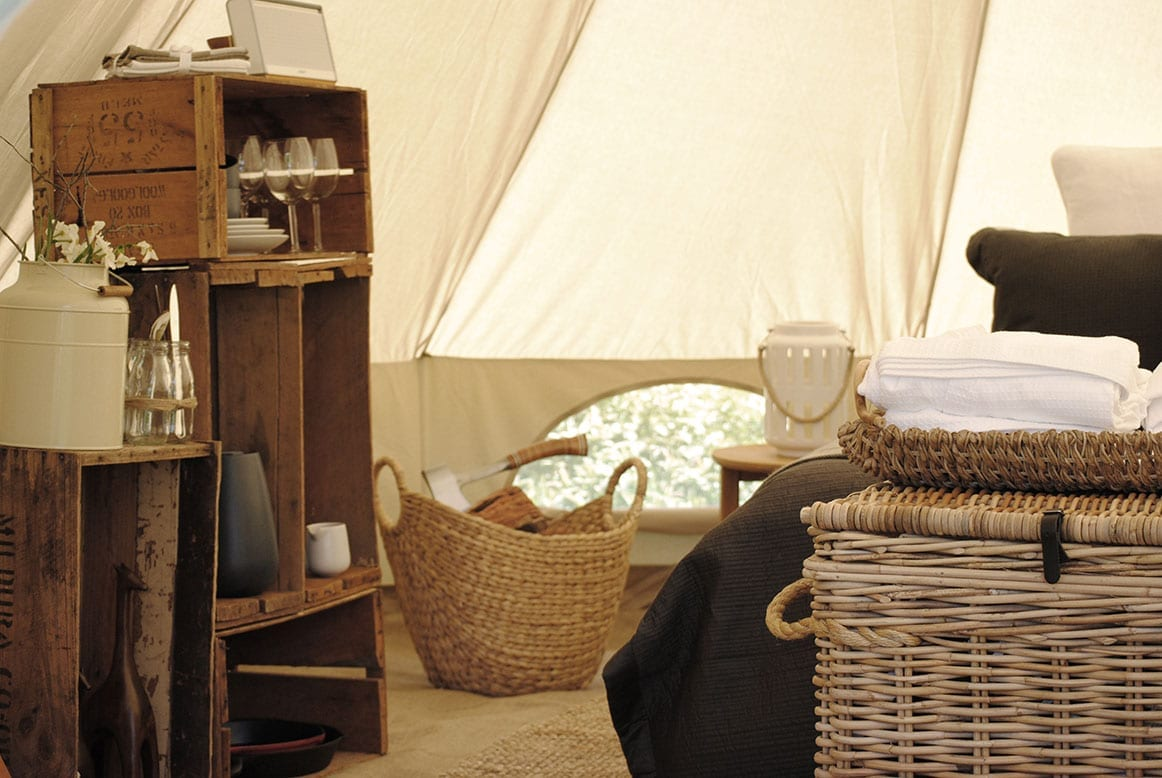 glamping in bell tents