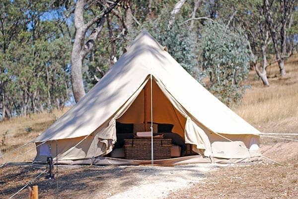 Cosy Tents Bell Tent & Daylesford Location - Cosy Tents