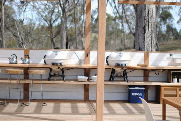 Cosy Tents BBQ Area & Daylesford Location - Cosy Tents