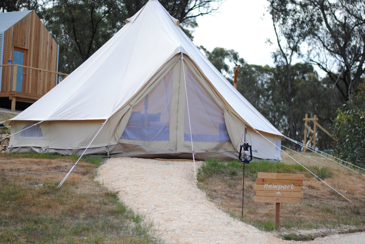 Cosy Tents Gl&ing Daylesford - Newport Bell Tent & Newport Bell Tent - Cosy Tents